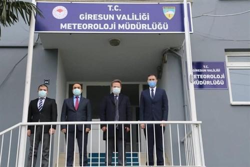 Vali Ünlü, Meteoroloji İl Müdürlüğünü Ziyaret Etti