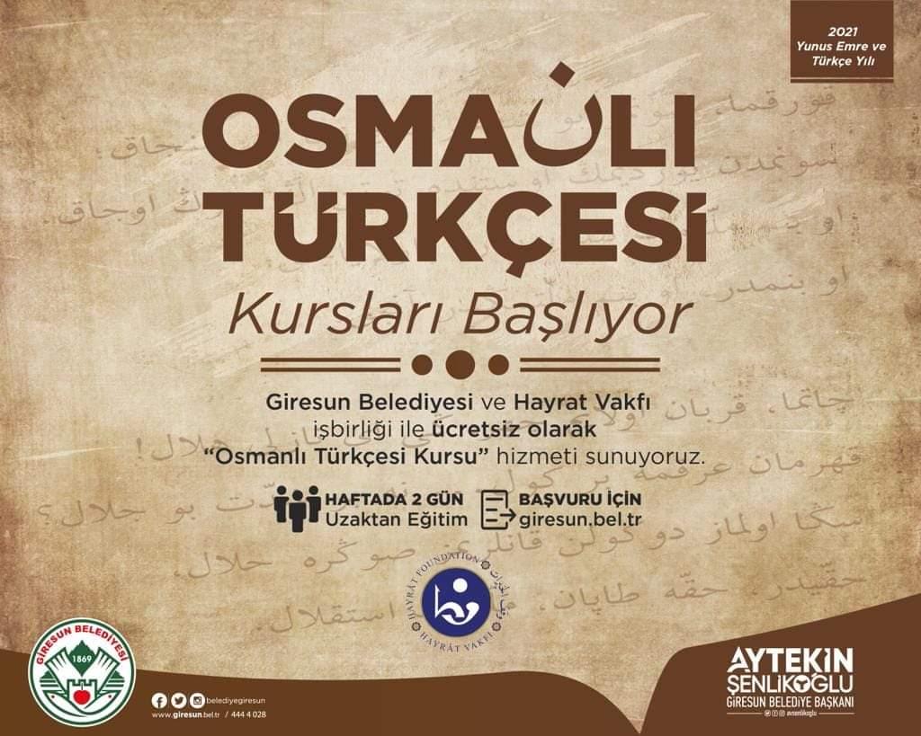 """Ücretsiz """"Osmanlı Türkçesi"""" kurslarımız başlıyor…"""