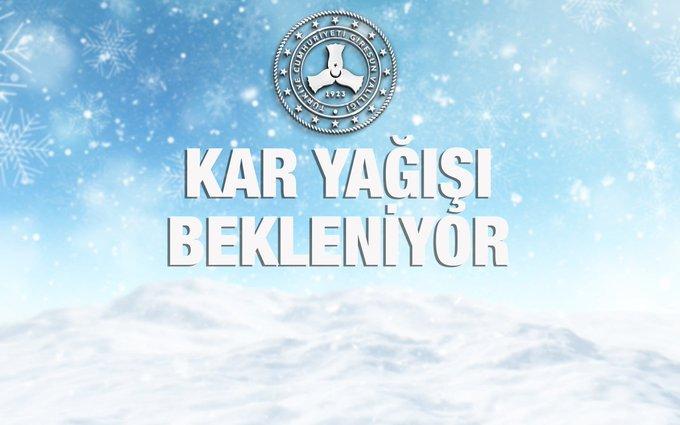Giresun'da Kuvvetli Kar Yağışlarına Dikkat!