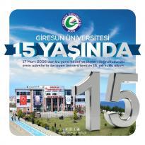 GİRESUN ÜNİVERSİTESİ 15 YAŞINDA