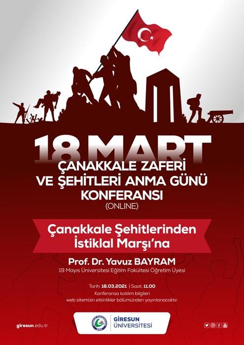 """""""Çanakkale Şehitlerinden İstiklal Marşı'na"""" Konferans (Prof. Dr. Yavuz BAYRAM)"""