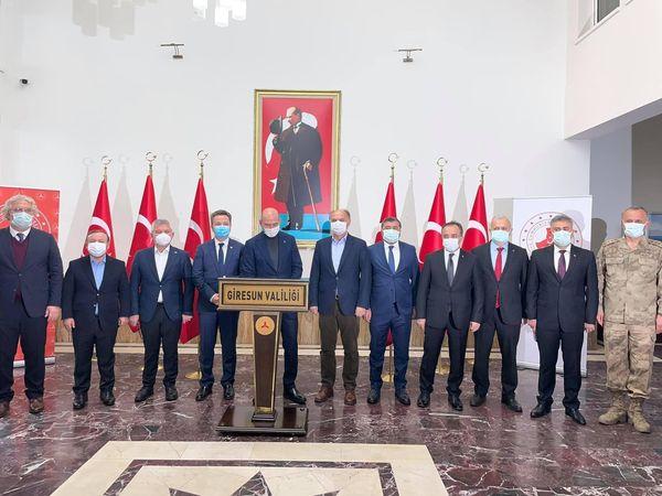 İçişleri Bakanı Soylu Giresun'da