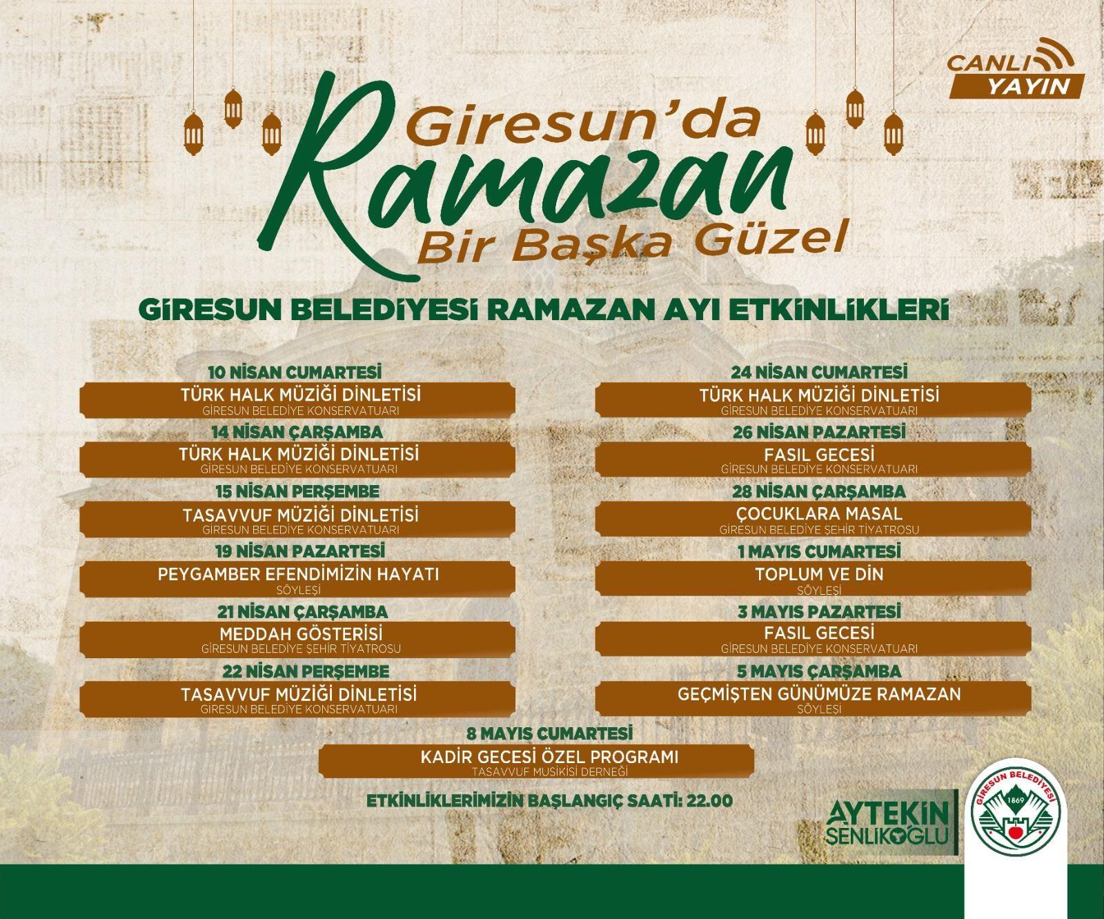 2021 yılı Ramazan Etkinlikleri