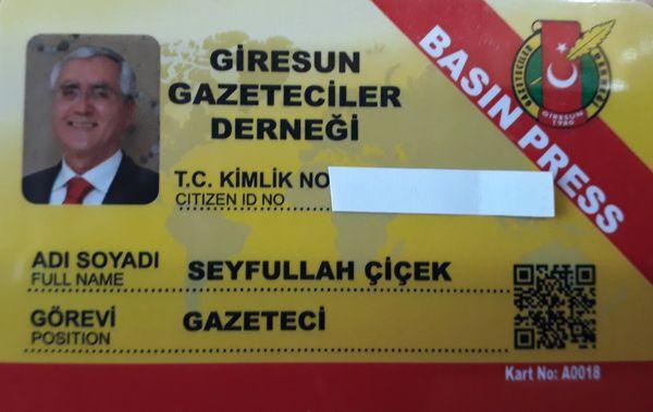 ARTIK GAZETECİ KİMLİĞİMİZ DE VAR!