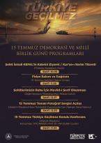 Milli Birlik Günü Anma ve Etkinlik Programları
