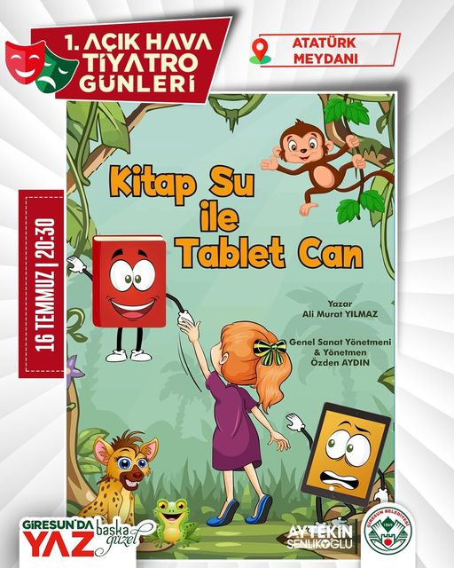 Kitap Su ile Tablet Can