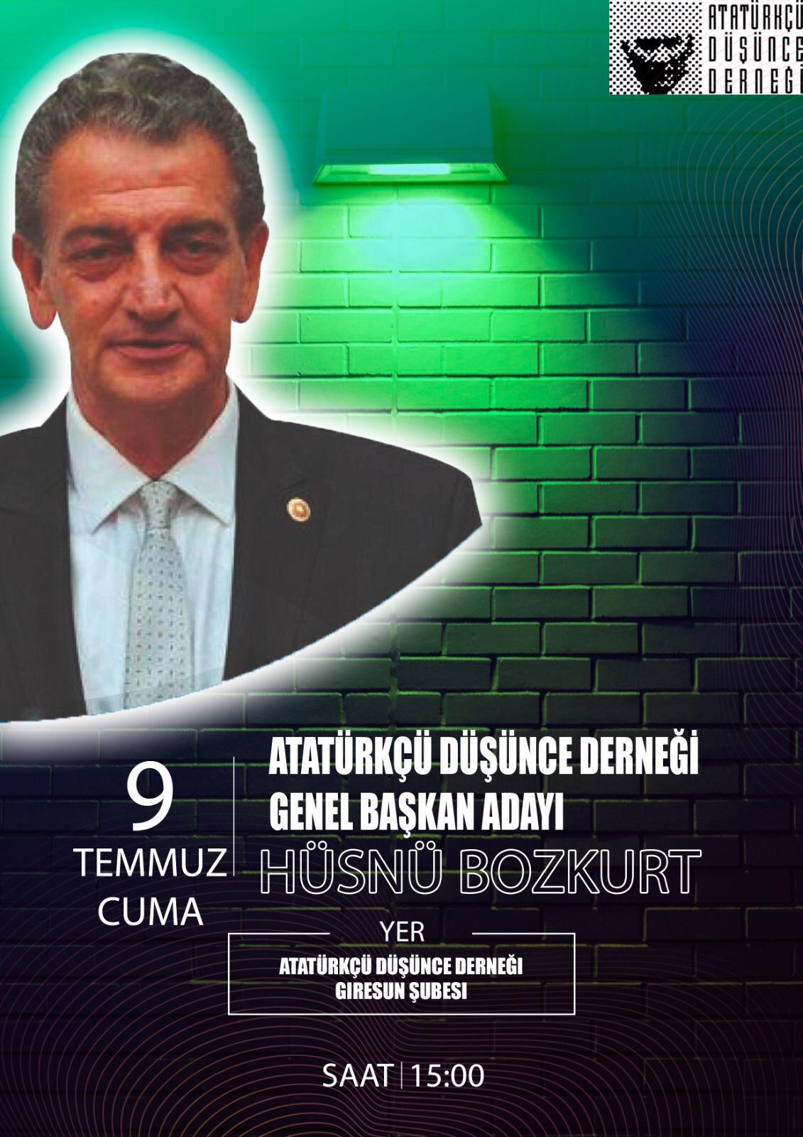 ADD Genel Başkan Adayı Hüsnü Bozkurt Giresun'da
