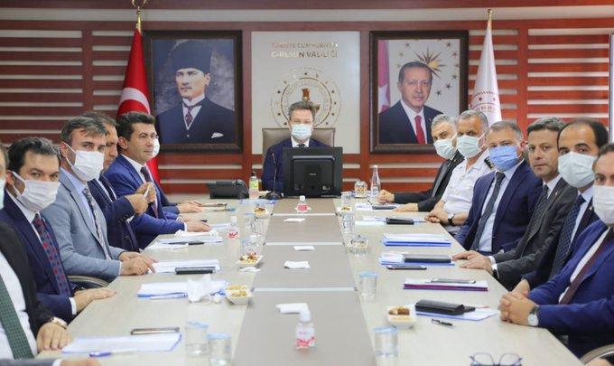 Kaymakamlar Toplantısı Vali Ünlü Başkanlığında Yapıldı
