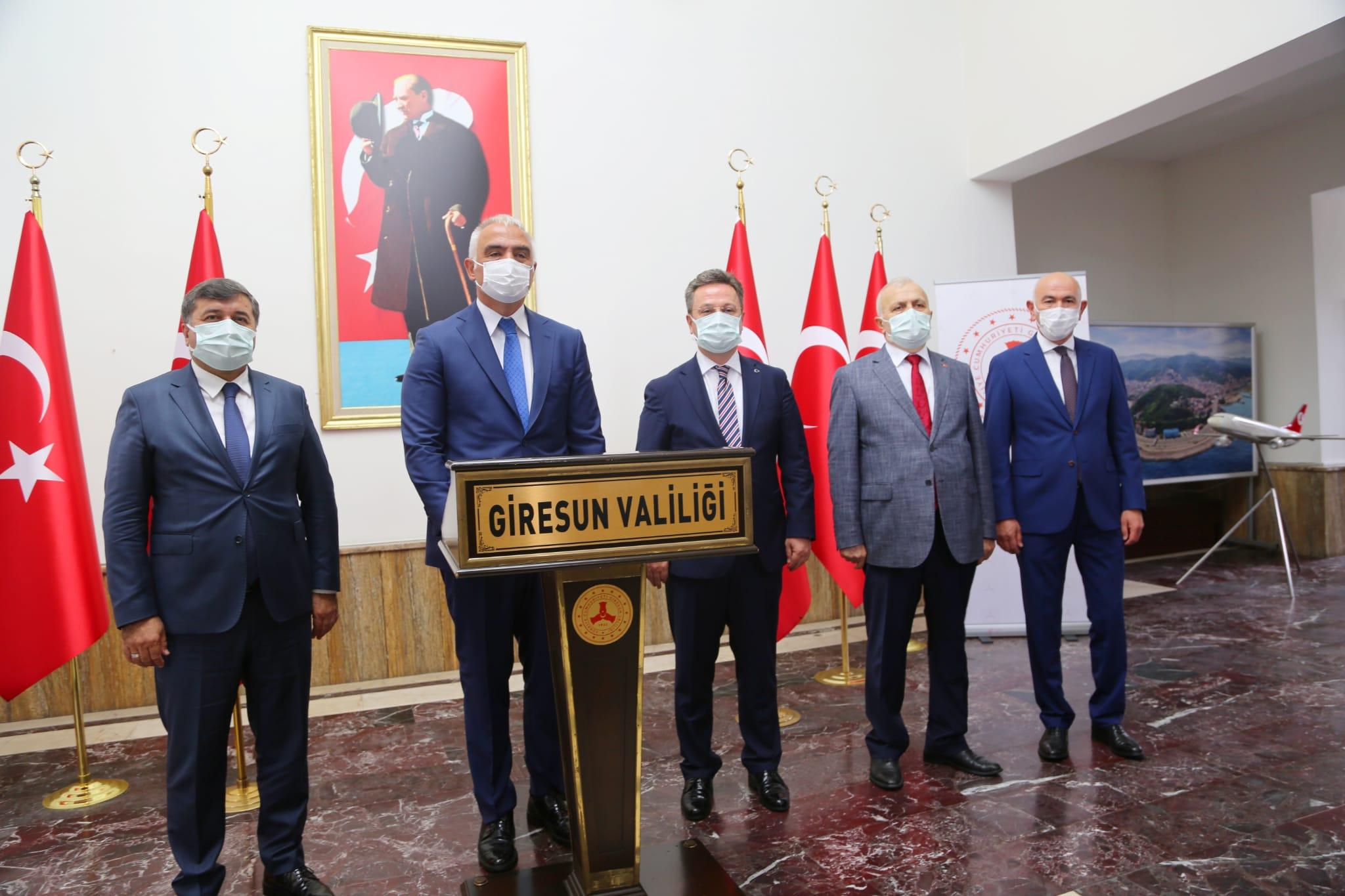 Vali Ünlü, Sendika Genel Başkanlarını kabul Etti