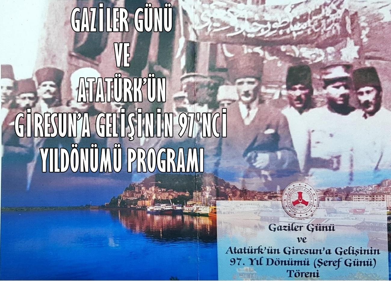 Atatürk'ün Giresun'a Gelişi ve Gaziler Günü Programı (19.09.2021)
