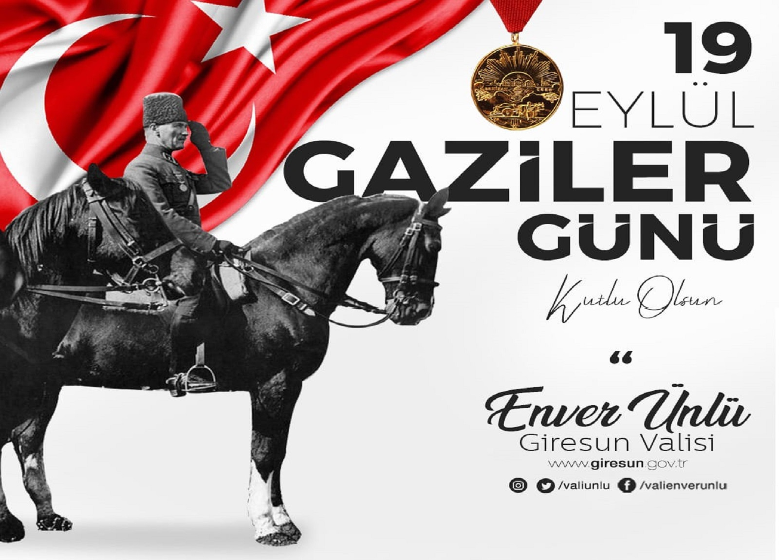 Vali Ünlü'nün Atatürk'ün Giresun'a Gelişi ve Gaziler Günü Mesajı
